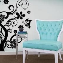 Farfalle e vinile decorativo albero