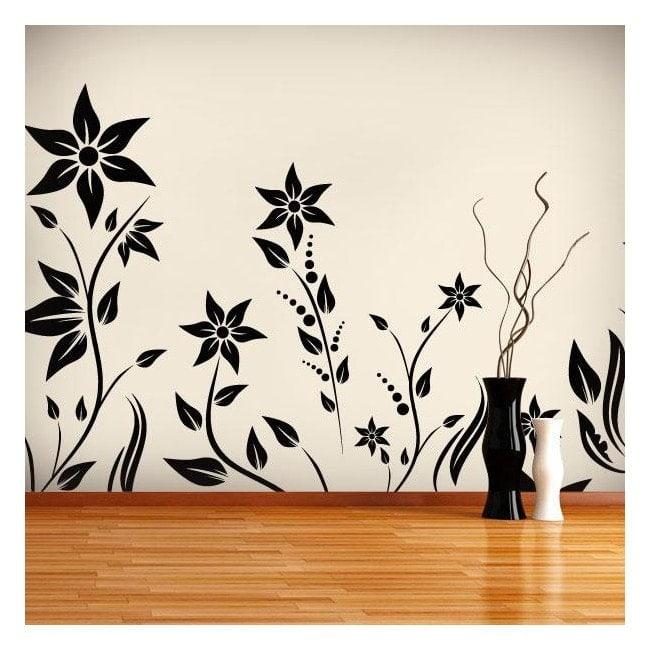 Giardino di vinile decorativo con I fiori