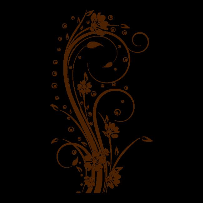 Decorazioni Fiori.Fiori Decorativi Vinile Verticale I