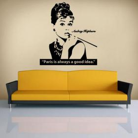 Vinile decorativo Audrey Hepburn