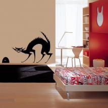 Vinile decorativo gatto e topo