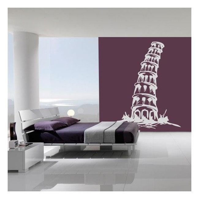 Torre di Pisa vinile decorativo