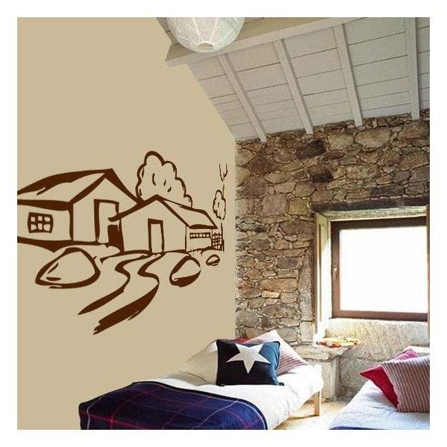 Cottage di vinile decorativo Italian 231