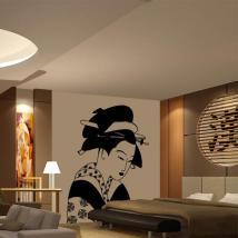 Donna giapponese di vinile decorativo