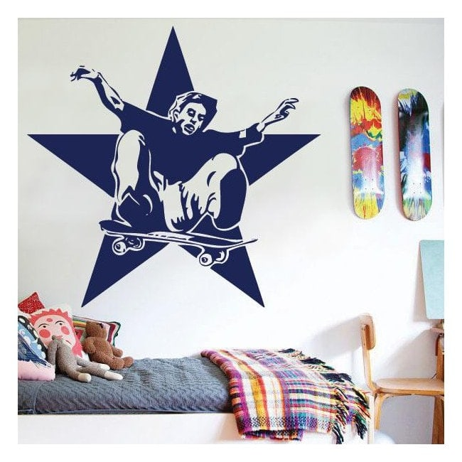 Vinile decorativo pattinatrice e stelle