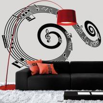 Personale di vinile decorativo a spirale