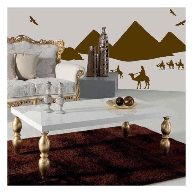 Piramidi egiziane vinile decorativo