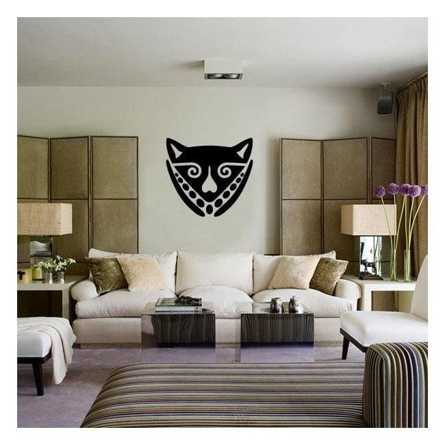 Maschera africana vinile decorativo