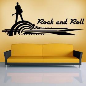 Vinile decorativo Rock and Roll mi