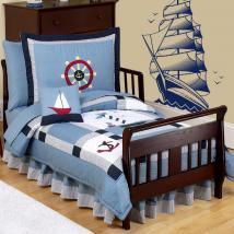 Vela barca vinile decorativo