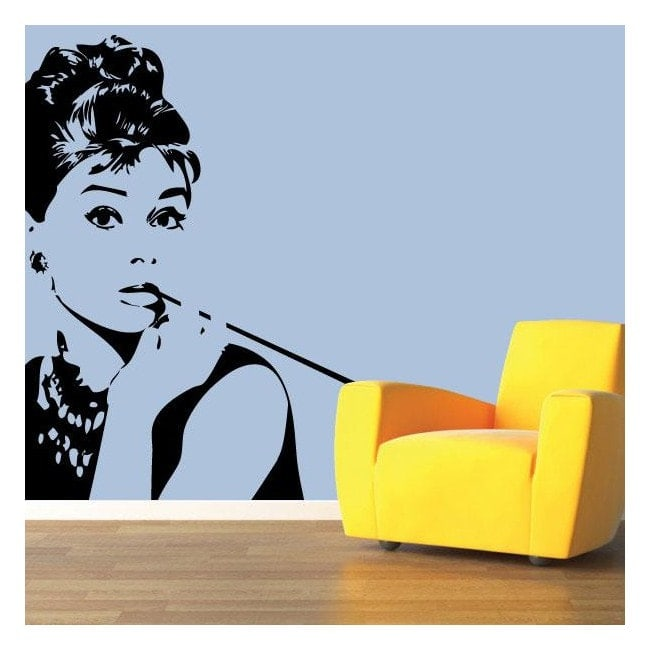 Sagoma decorativa vinile Audrey Hepburn
