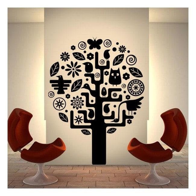Vinile decorativo albero azteco