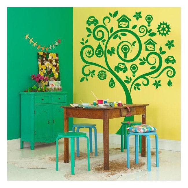 Albero di adesivi pareti verde for Adesivi x pareti
