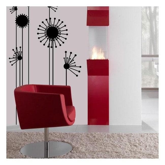 Adesivi murali fiore minimalista Italian 545