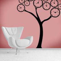 Vinile decorativo albero orologi