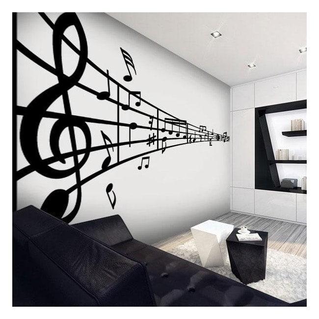 Pareti adesivi rigo musicale for Adesivi x pareti