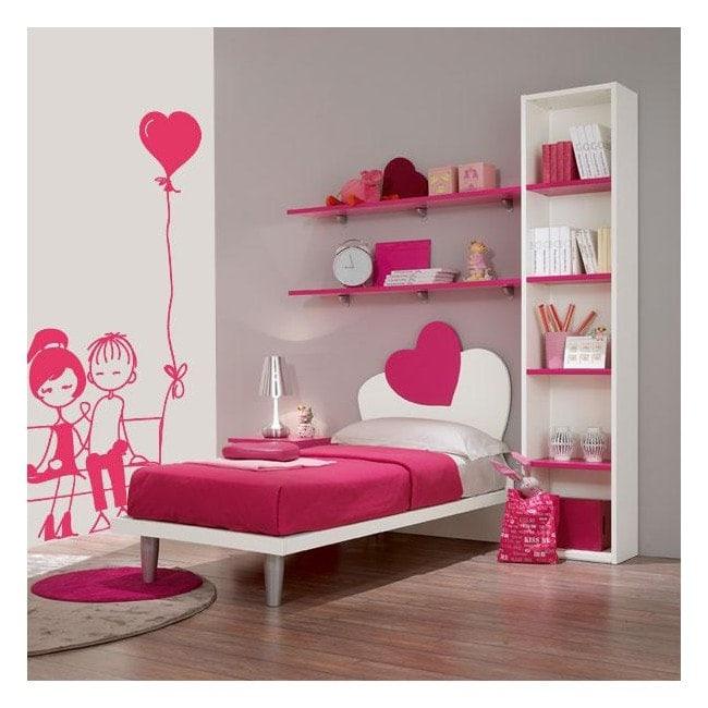 Momento romantico di adesivi pareti Italian 537
