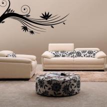 Adesivi ramo floreale pareti