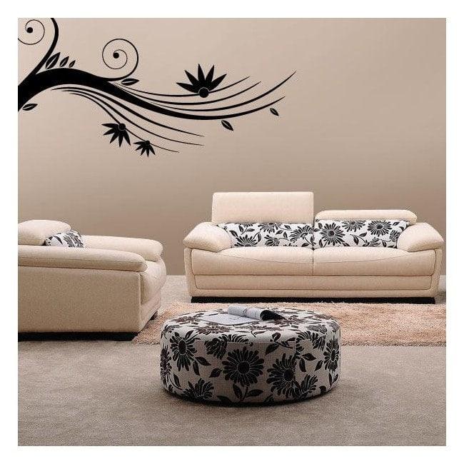 Adesivi ramo floreale pareti for Adesivi x pareti
