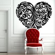 Cuore tribale di adesivi parete