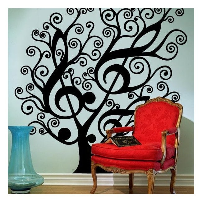 Albero musicale vinile decorativo