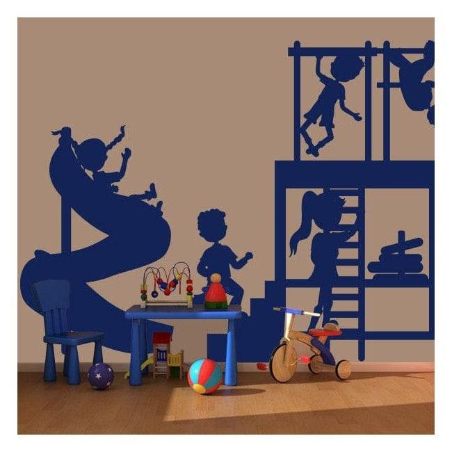 Bambini che giocano vinile decorativo