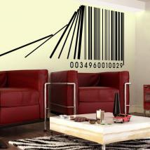 Codice a barre vinile decorativo