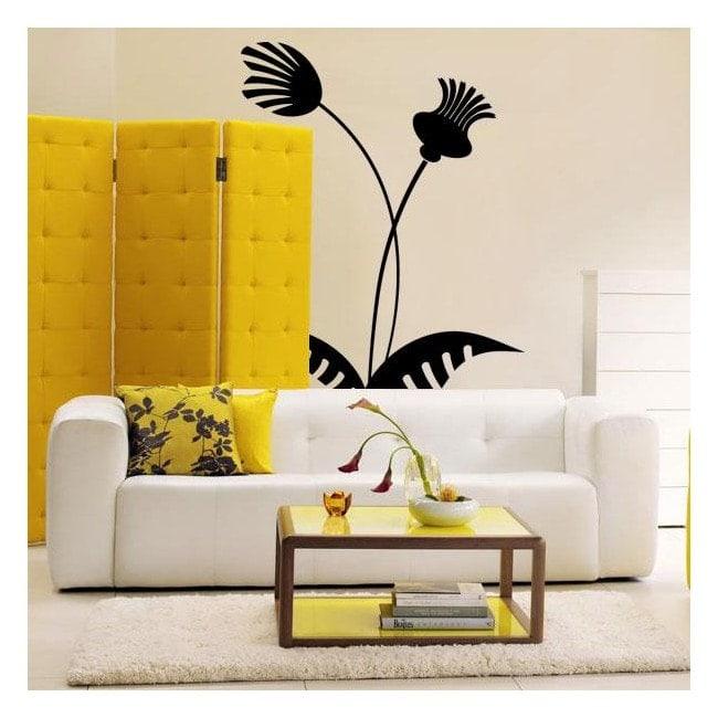 Decorare fiori tropicali di pareti