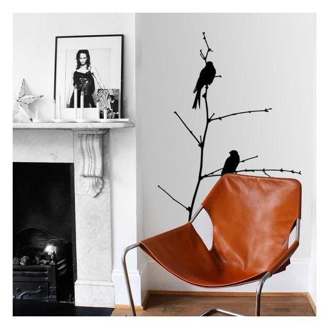 Uccelli decorativi vinile su ramo