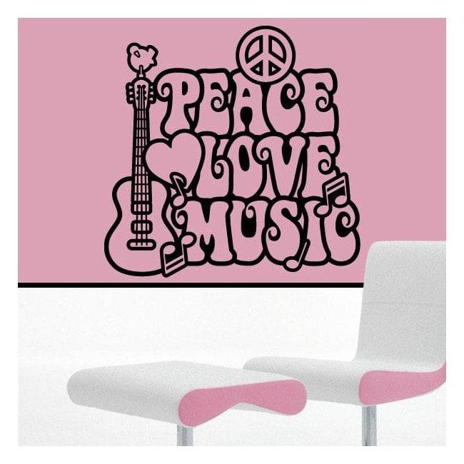Amore e pace di decorazione di pareti