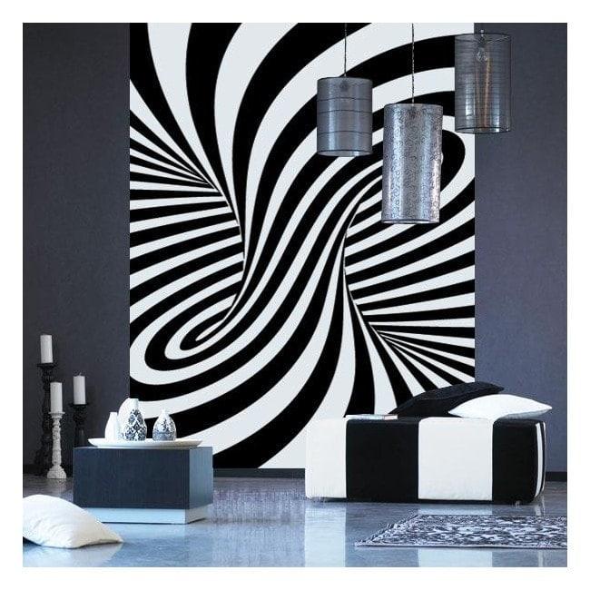 Decorare pareti illusione ottica
