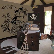 Decorare pareti nave pirata