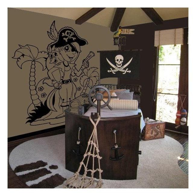 Decorare il pirata infantile di pareti
