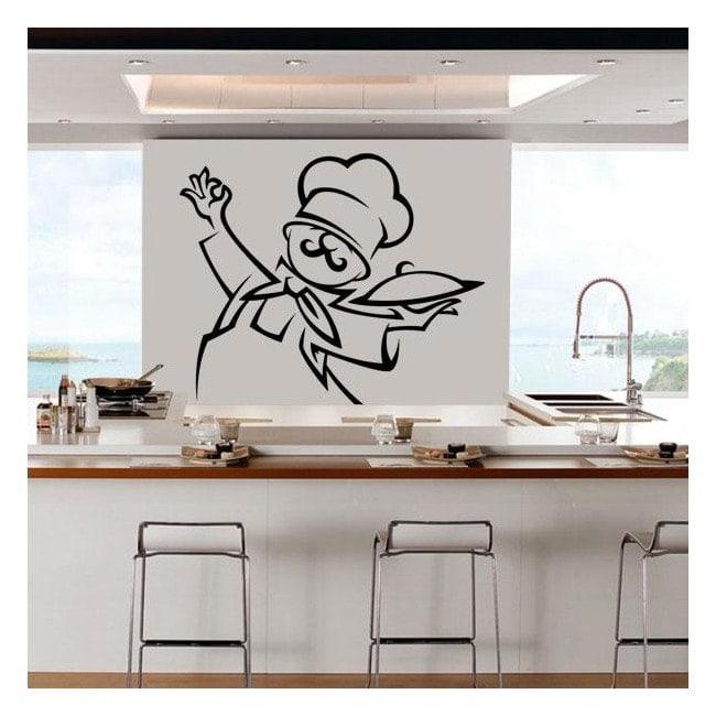 Decorare cucina pareti chef - Colorare pareti cucina ...