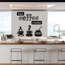Vinile decorativo di caffè tè Mate