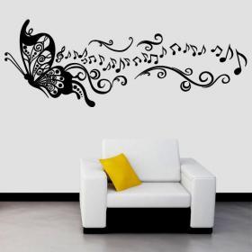 Musica vinile decorativo farfalla