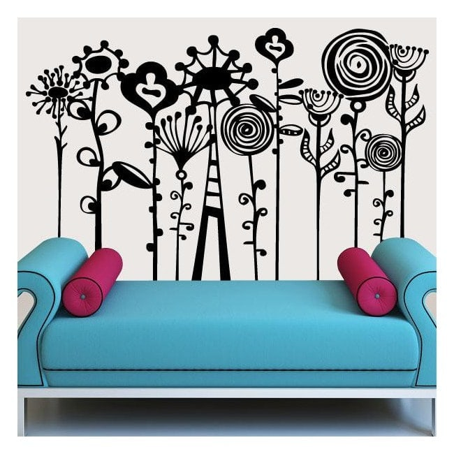 Decor parete arte floreale
