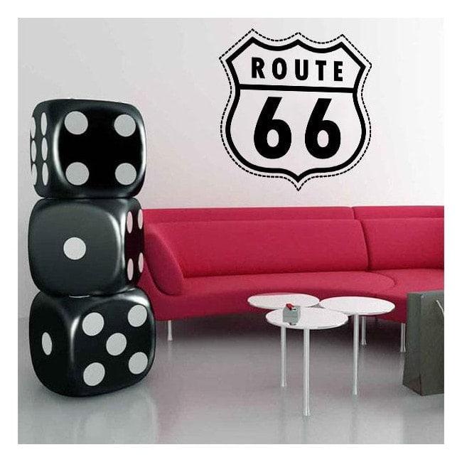 Vinile decorativo Route 66