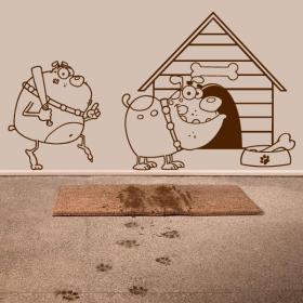 Vita di cane vinile decorativo