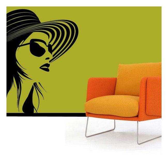 Silhouette femminile di decorazione pareti