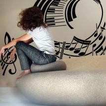 Rigo musicale di decorazione pareti