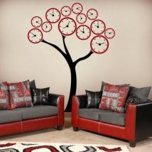 Decorare pareti albero orologi