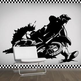 Vinile decorativo Motocross