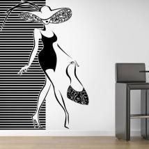 Decorare la silhouette donna mura