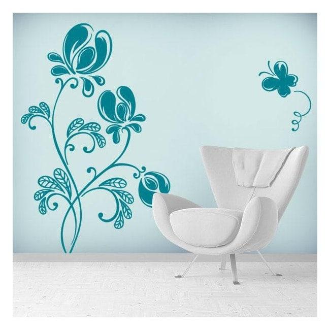 Adesivi parete floreale di tenerezza