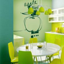 Vinile decorativo Apple dieta Italian 576