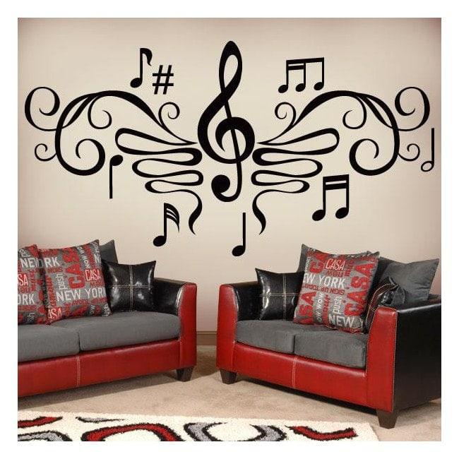 Filigrana musicale vinili decorativi