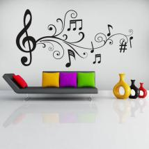 Vinile decorativo note musicale