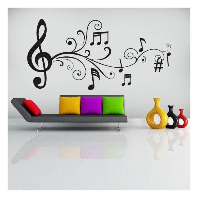 Vinile decorativo note musicale