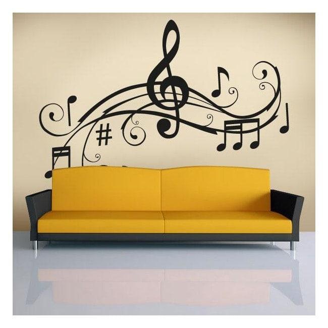 Dettaglio musicale vinili decorativi